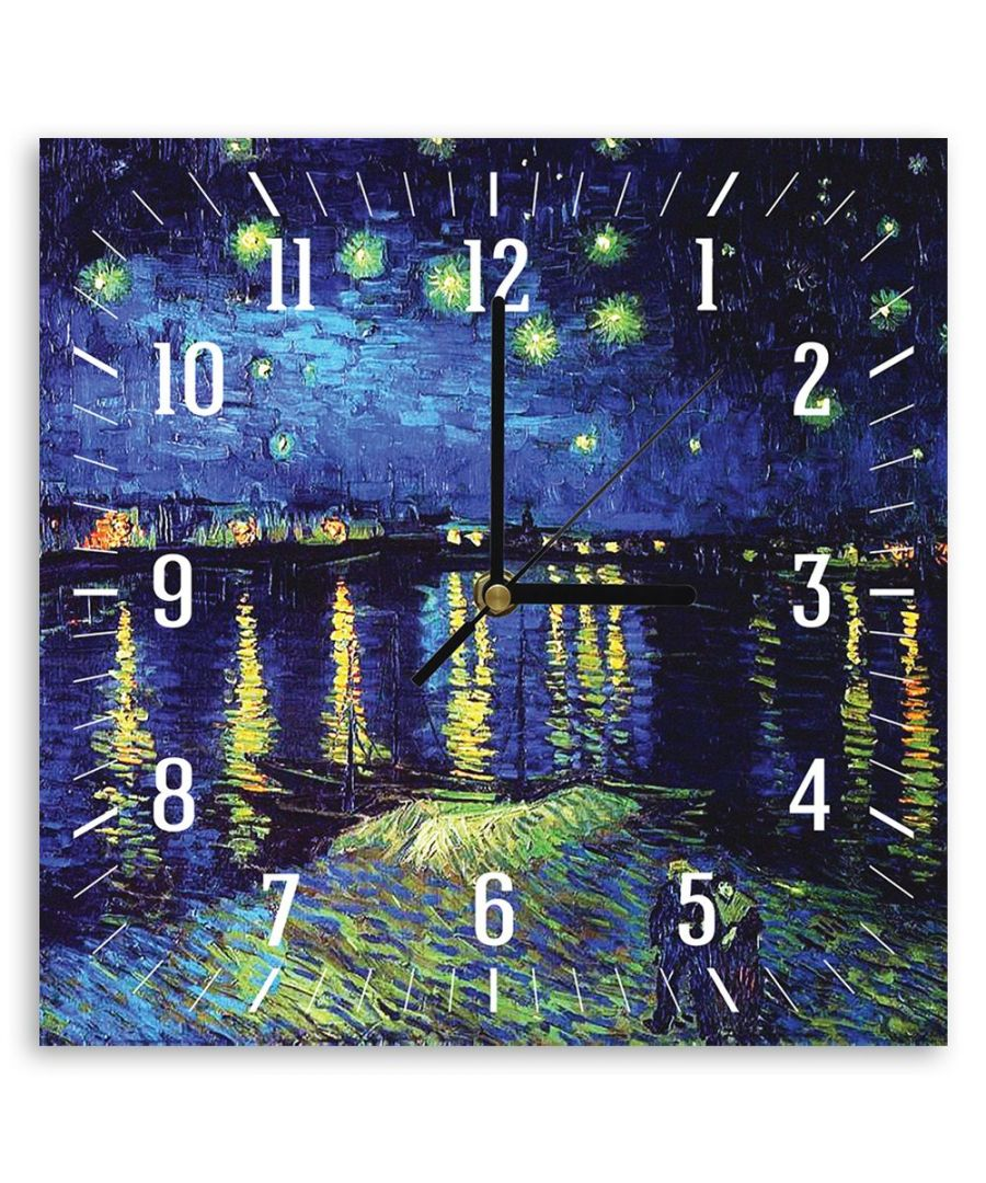 Image for Wall Clock - Starry Night Over The Rhone (Detail) - Vincent Van Gogh Cm. 30x30