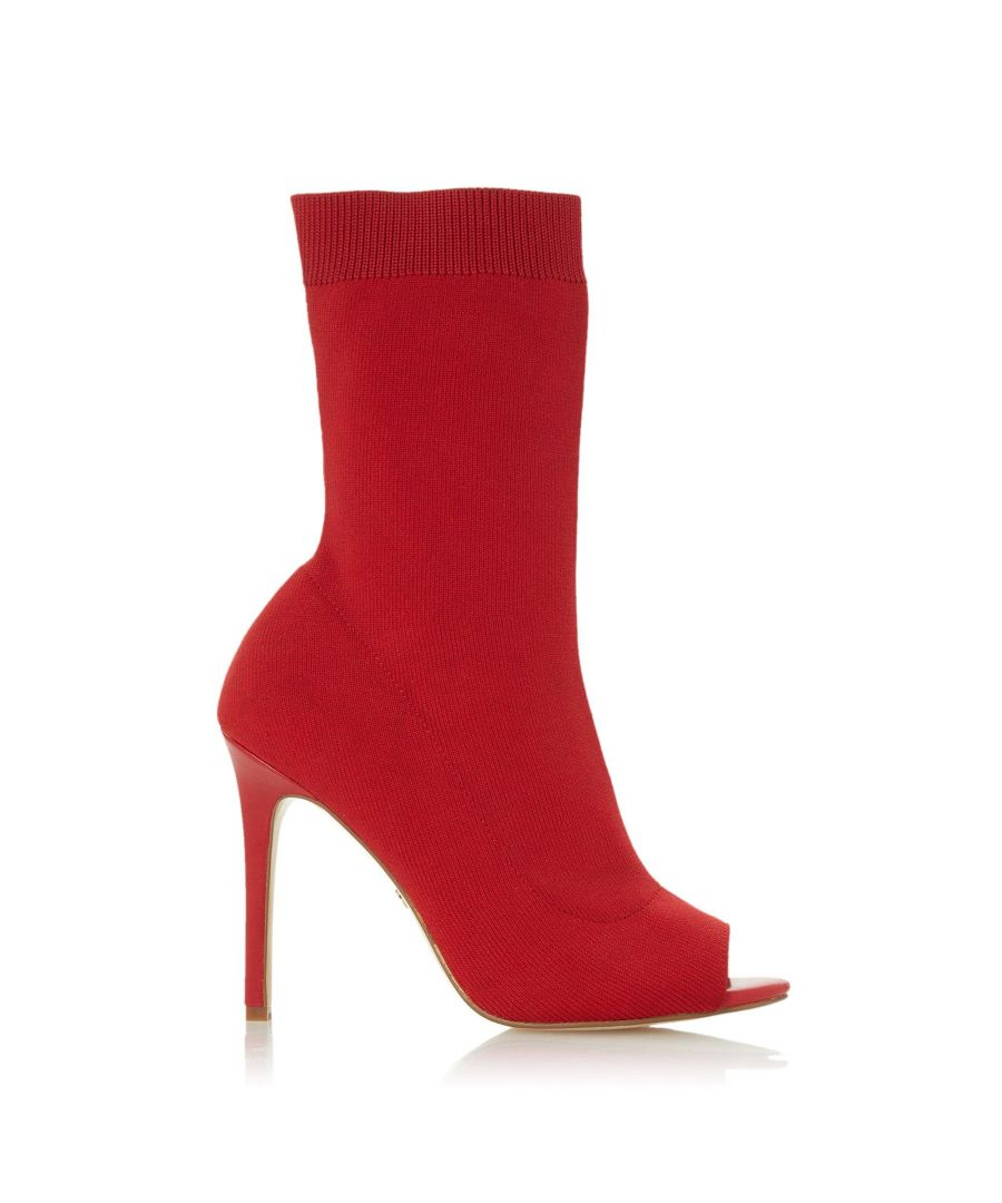 Image for Dune Ladies OBLIVION Peep Toe High Stiletto Heel Sock Boots
