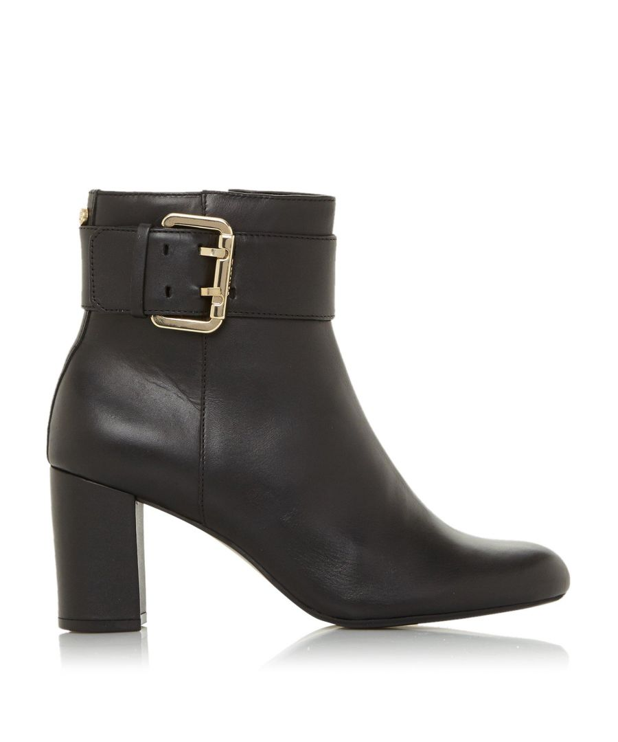 Image for Dune Ladies OCTOBA Croc-Effect Block Heel Ankle Boots