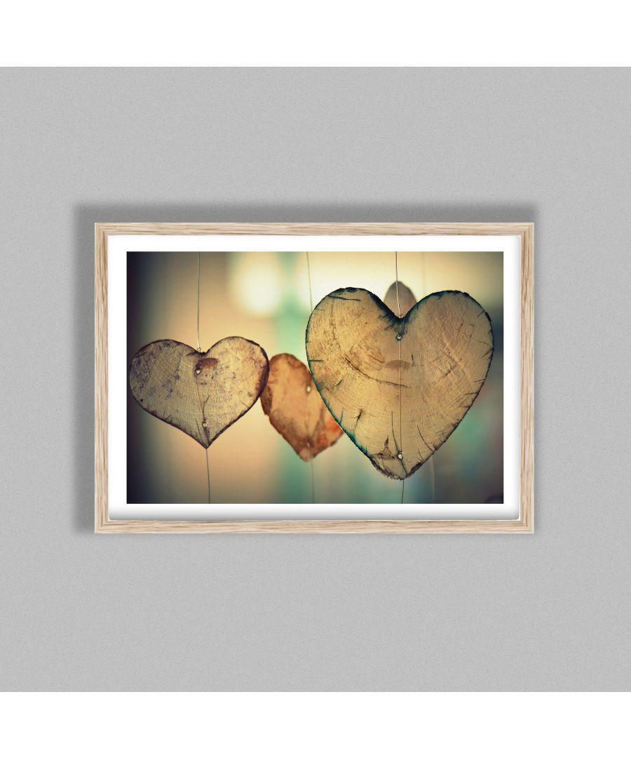 Image for Wooden Hearts - Oak frame