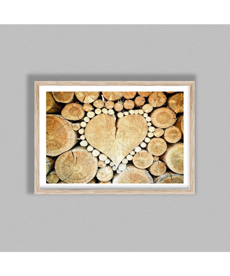 Image for Wooden Heart - Oak frame