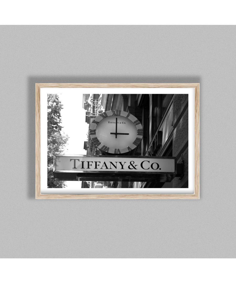 Image for Tiffany & Co Clock Store Sign Zurich - Oak frame