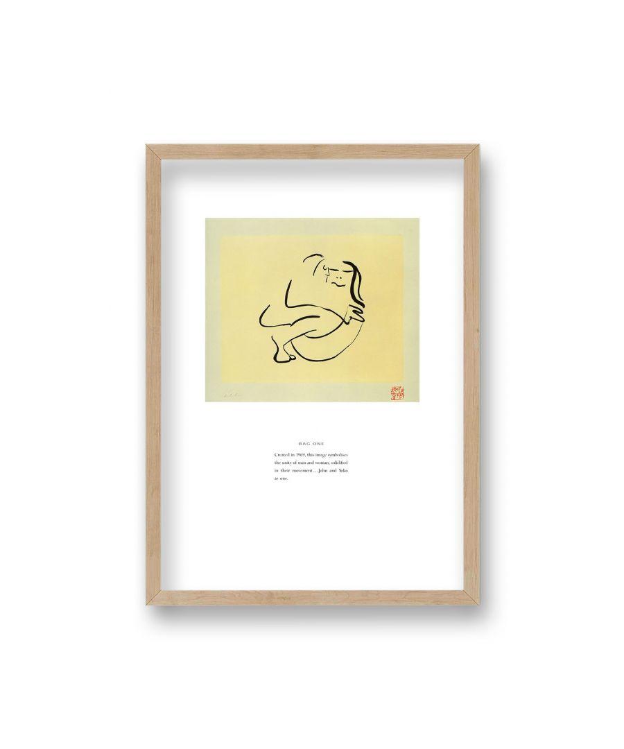 Image for John Lennon Personal Sketch Collection 6 Bag One - Oak Frame