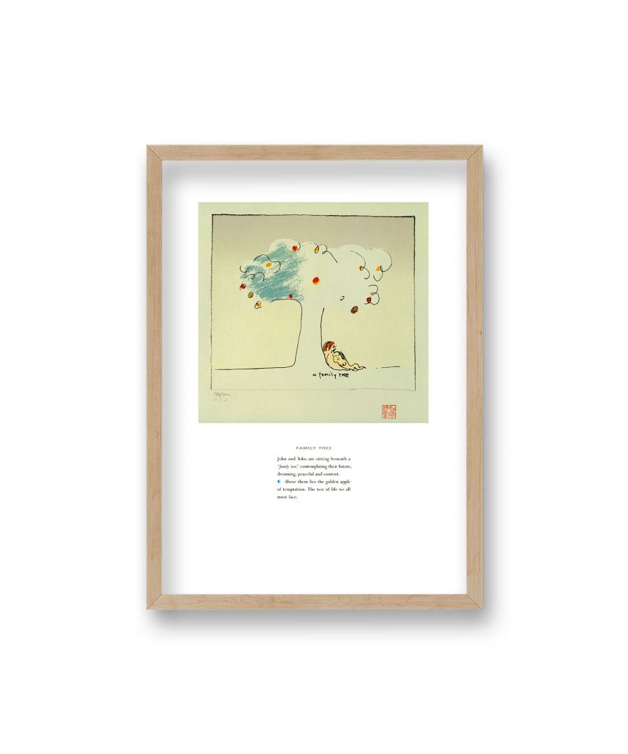 Image for John Lennon Personal Sketch Collection 11 Family Tree - Oak Frame