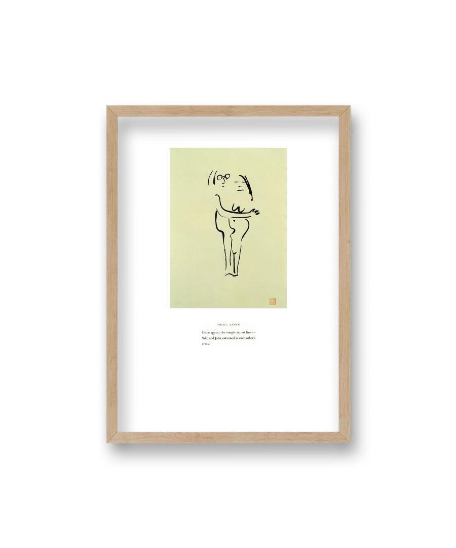 Image for John Lennon Personal Sketch Collection 12 Real Love - Oak Frame