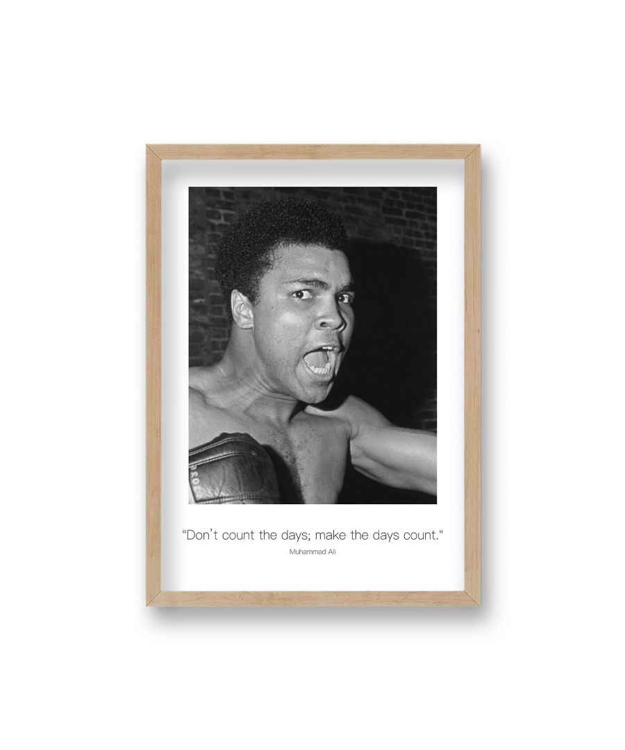 Image for Polaroid Style B&W Icon Print Ali Don't Count the Days Non Dated - Oak Frame