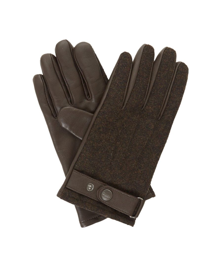Image for Dune Mens ONASIS Mixed Fabric And Leather Glove