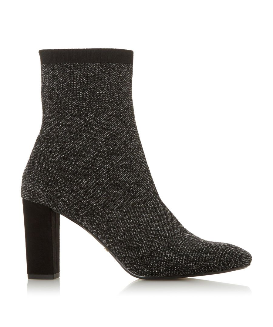 Image for Dune Ladies OPTICAL 2 Sparkly Knitted High Heel Sock Boots