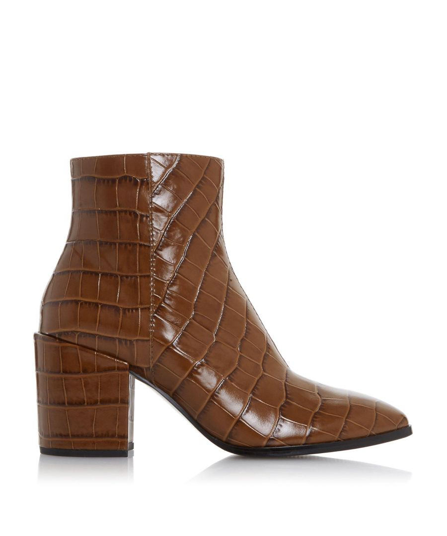 Image for Dune Ladies OPTIMUM Croc-Effect Pointed Toe Ankle Boots