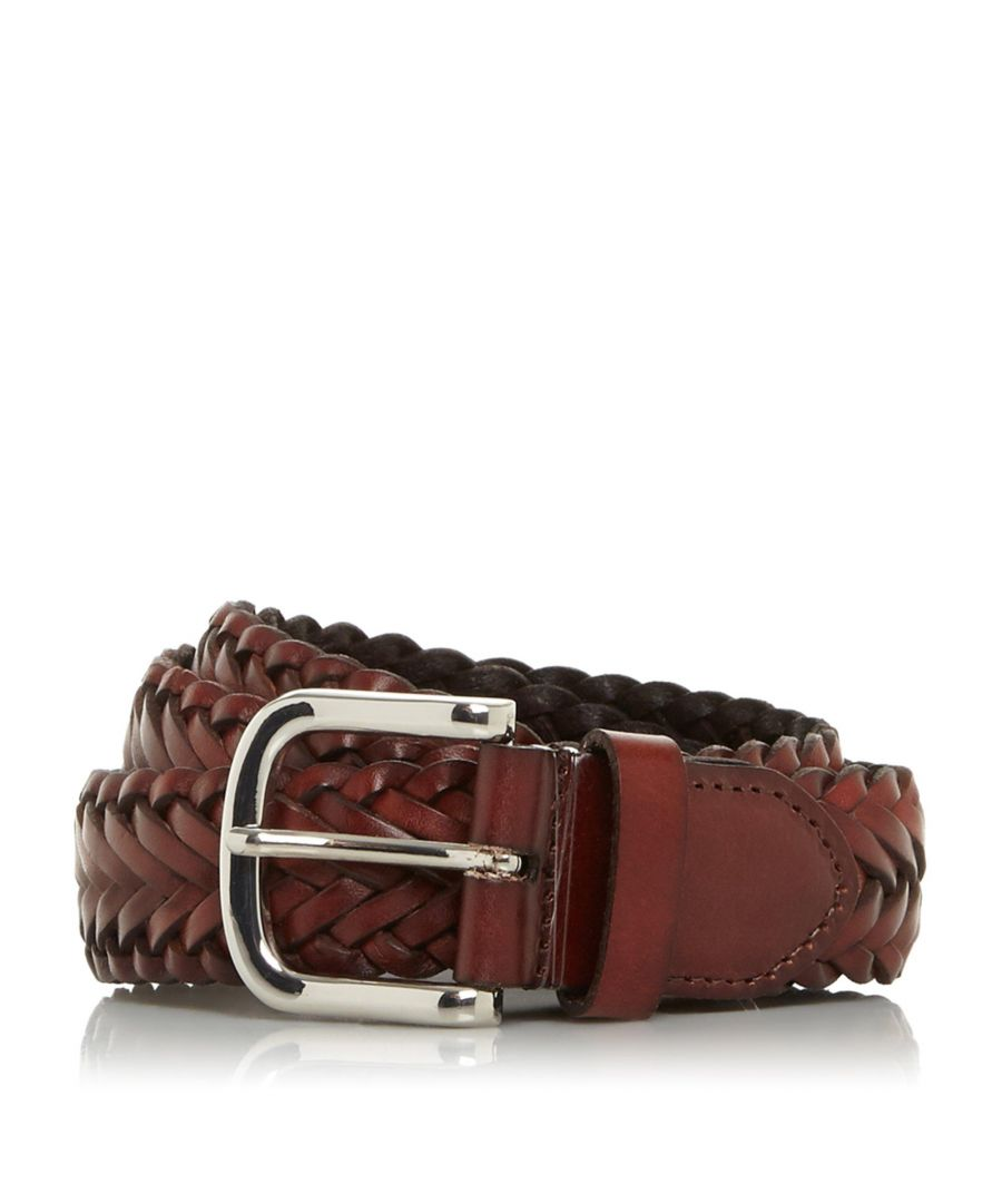 Image for Dune Mens ORDINER Hand Woven Leather Belt
