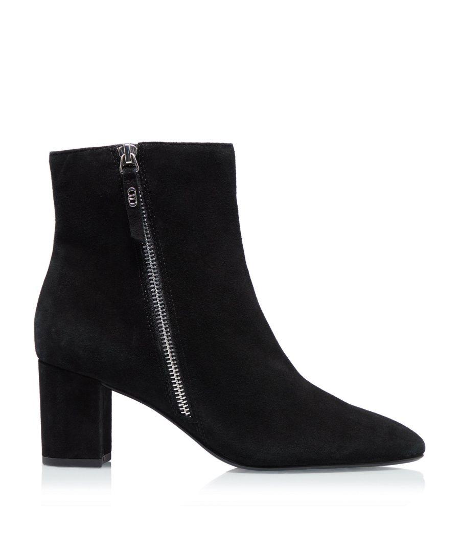 Image for Dune Ladies ORICLE Side Zip Block Heel Ankle Boots