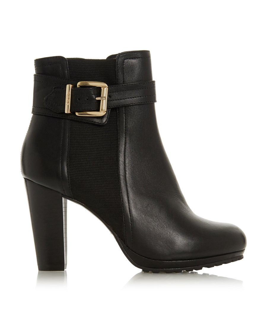 Image for Dune Ladies ORINE Buckle Strap Heeled Ankle Boots