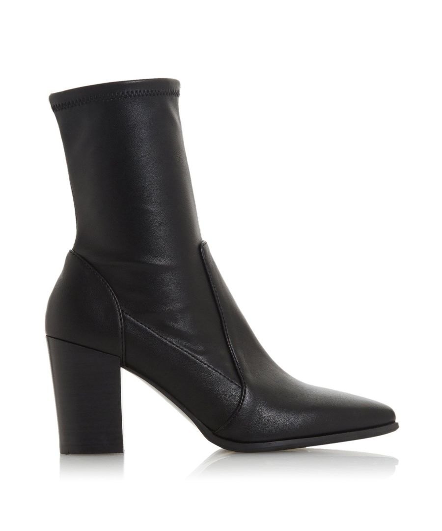 Image for Dune Ladies OSTENE Stretch High Block Heel Ankle Boots