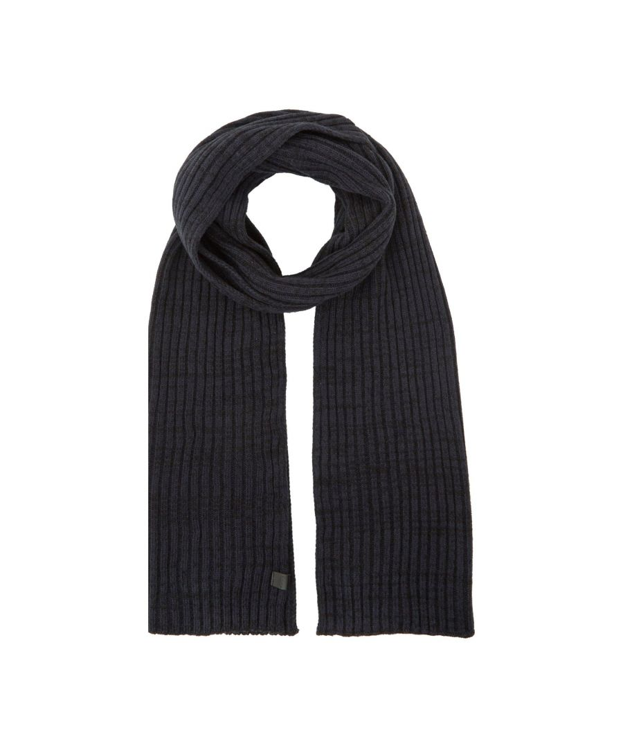 Image for Dune Mens OSTERLY Ribbed Knit Scarf