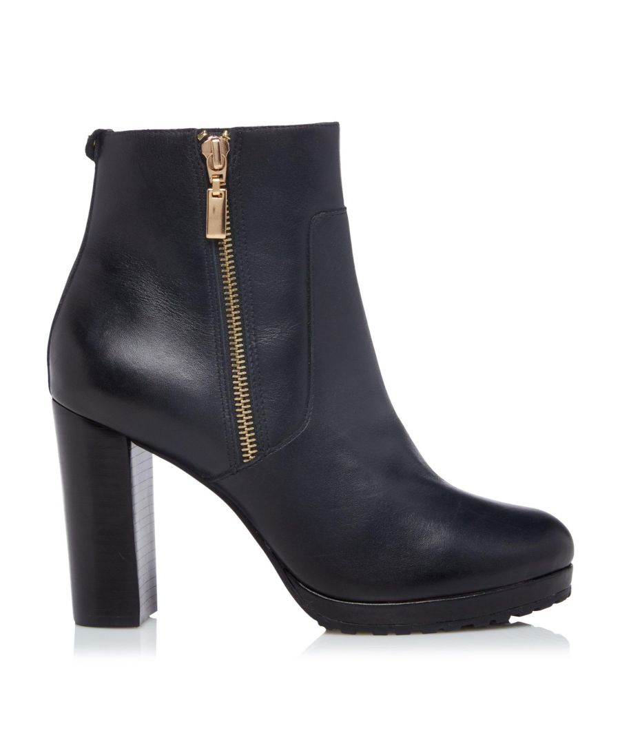 Image for Dune Ladies OTYLIA Side Zip Platform Ankle Boots