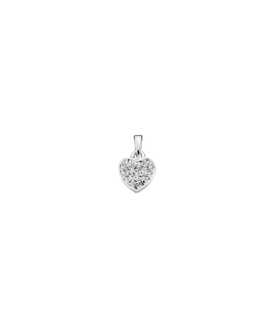 Image for Elements Sterling Silver Ladies Small Heart Fantasy Pendant and Earring Set of Length 41-46cm