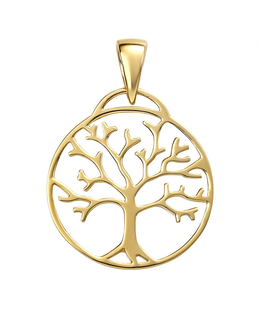 Image for Beginnings Ladies'  925 Sterling Silver Gold Plated Tree of Life Pendant Necklace of Length 41-46cm
