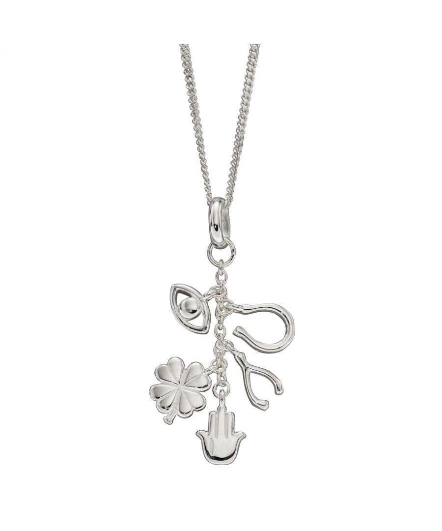 Image for Elements Silver Womens 925 Sterling Silver Lucky Charms Necklace of Length 41cm + 5cm