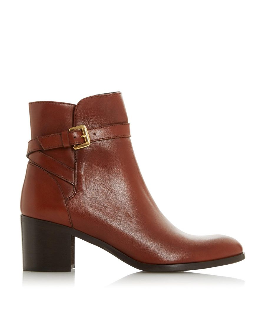 Image for Dune Ladies PACEY Mid Block Heel Multi Strap Ankle Boots