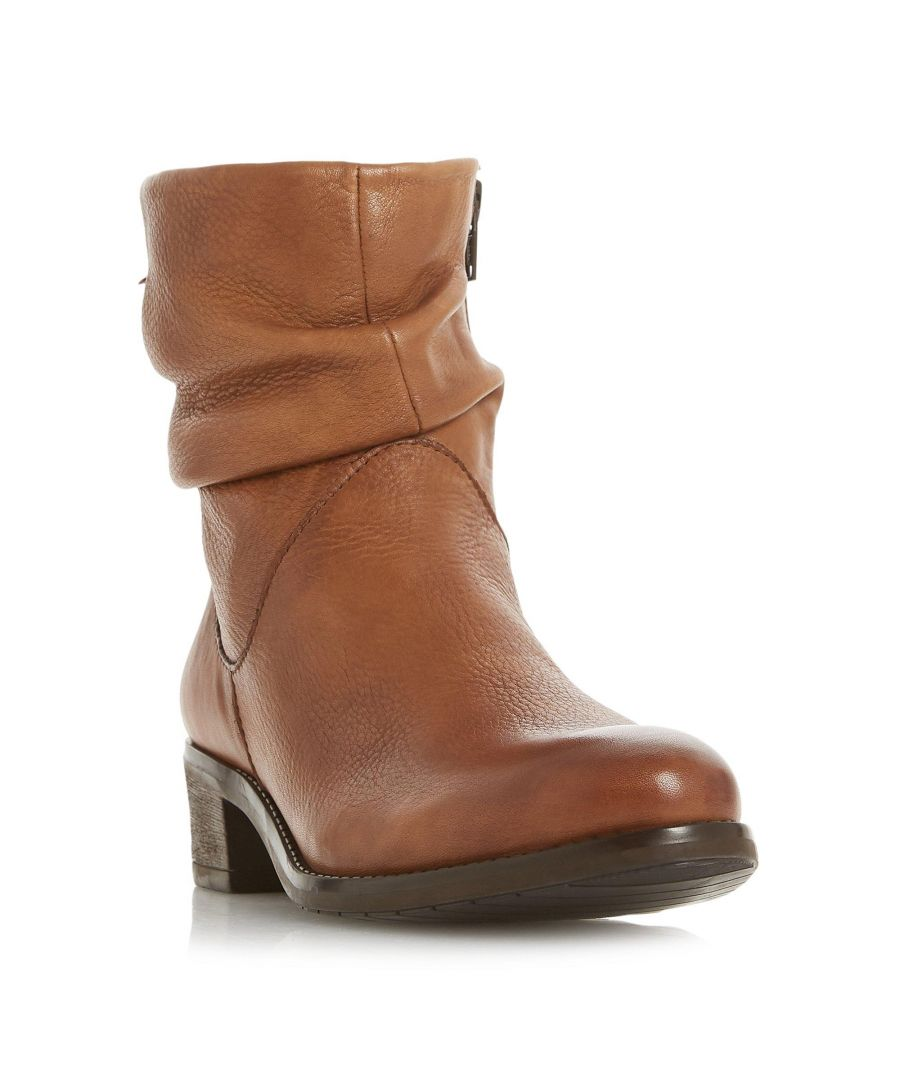 Image for Dune Ladies PAGERSS Ruched Side Zip Ankle Boot