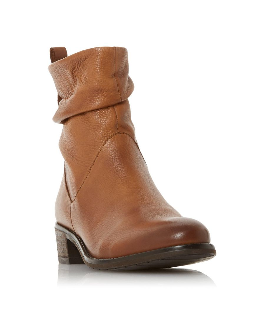 Image for Dune Ladies PAGERSS 2 Ruched Low Block Heel Ankle Boots