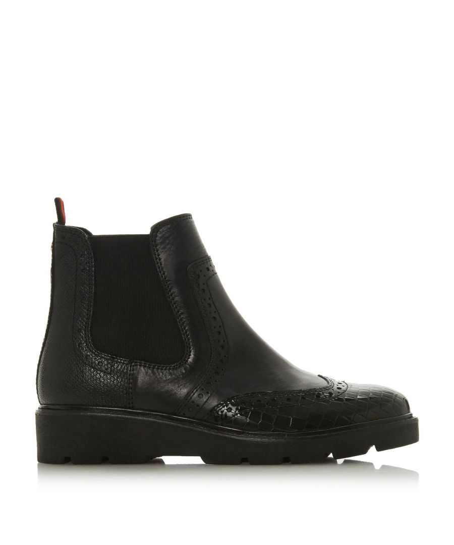 Image for Dune Ladies PALOMO Punched Chelsea Ankle Boots