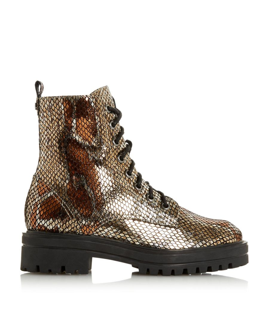 Image for Dune Ladies PAMA Cleated Sole Biker Boots
