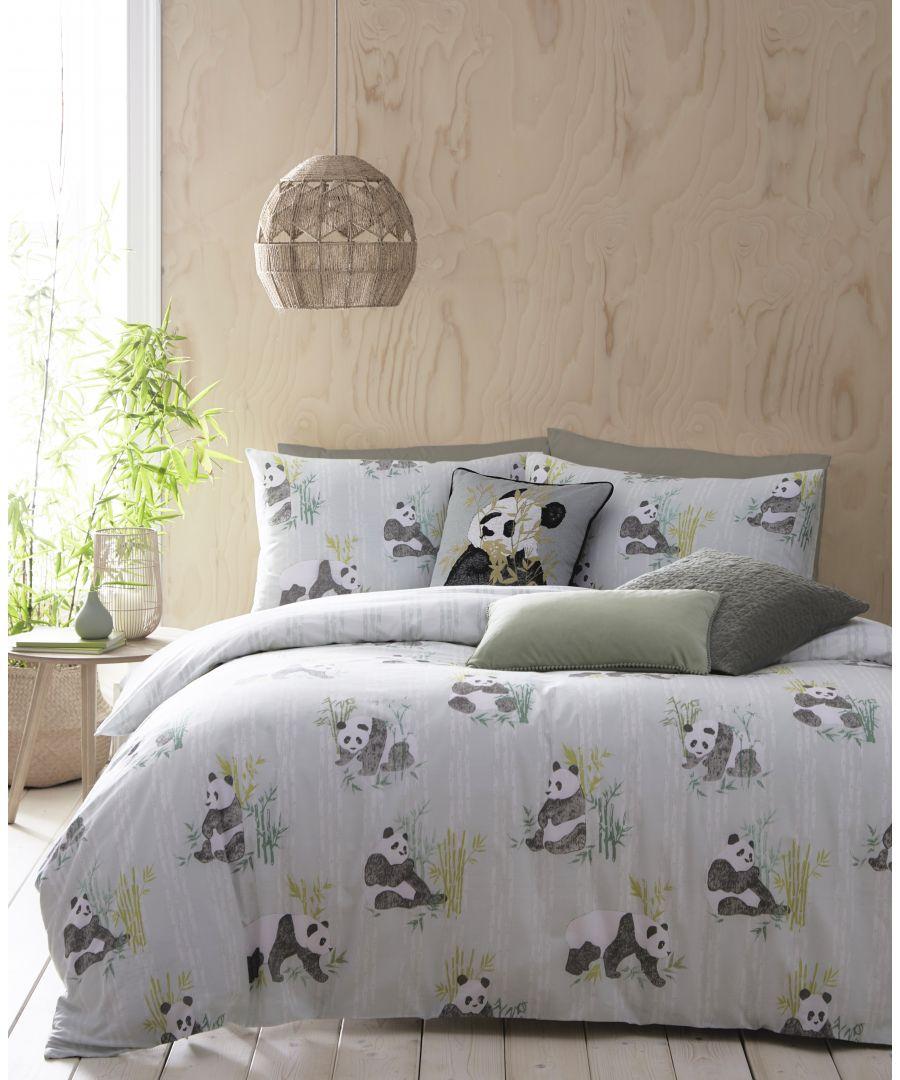 Image for Pandas Duvet Set Mint