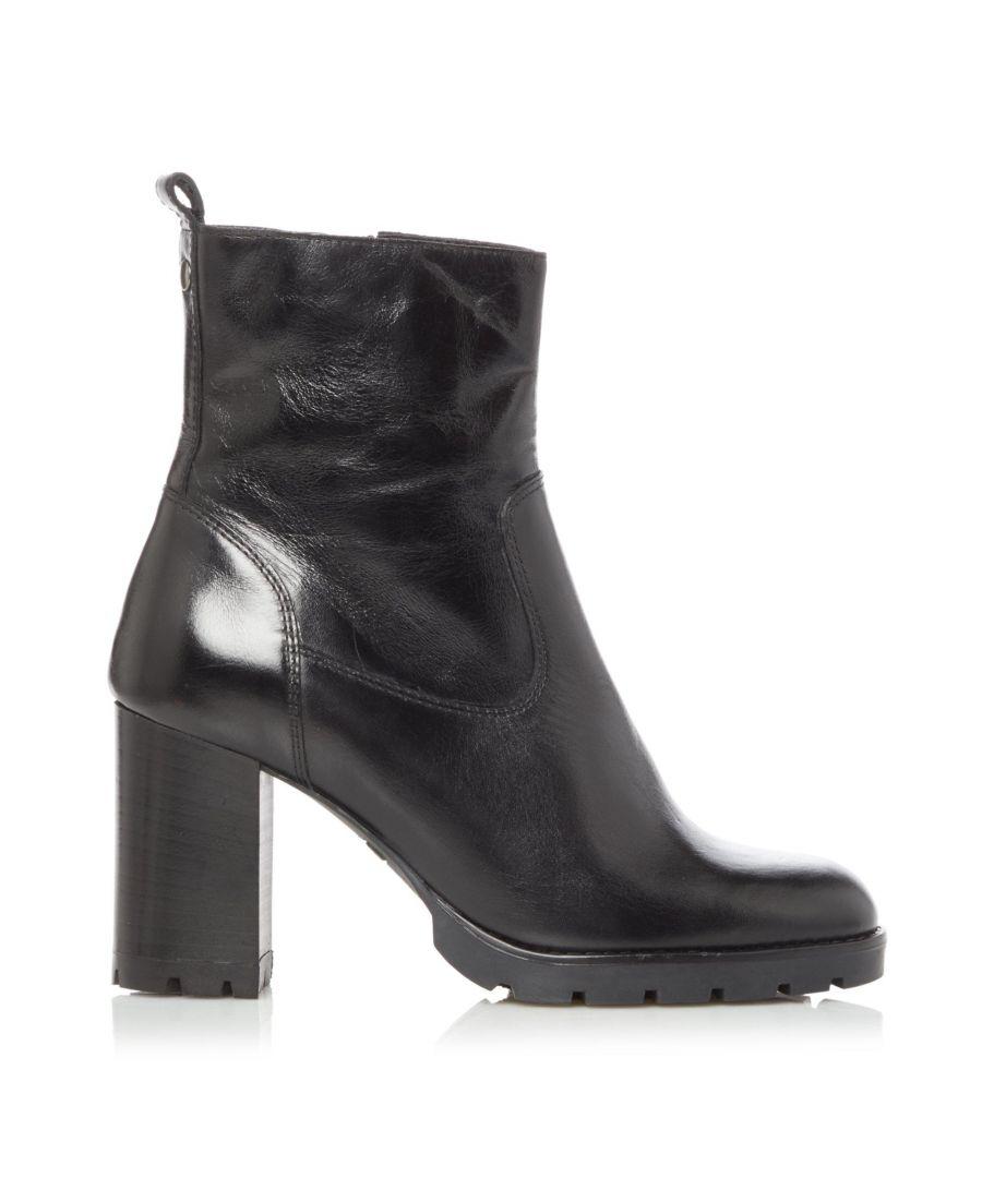 Image for Dune Ladies PANNER Cleated Zip Up Block Heel Boots