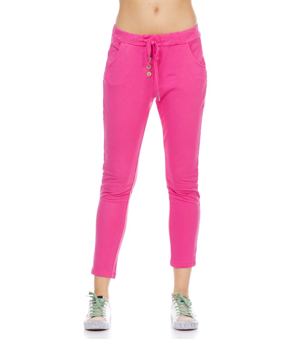 Image for Sport pants with elastic waist and buttons details