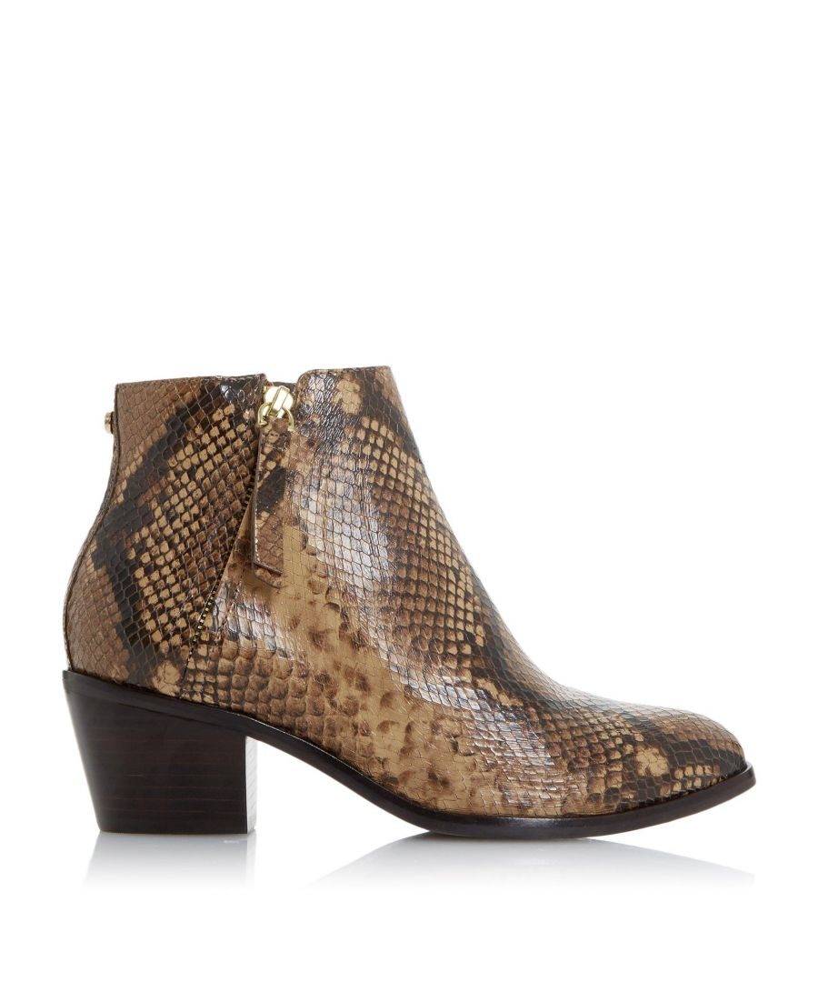 Image for Dune Ladies PARAMOUNT Mid Block Heel Ankle Boots