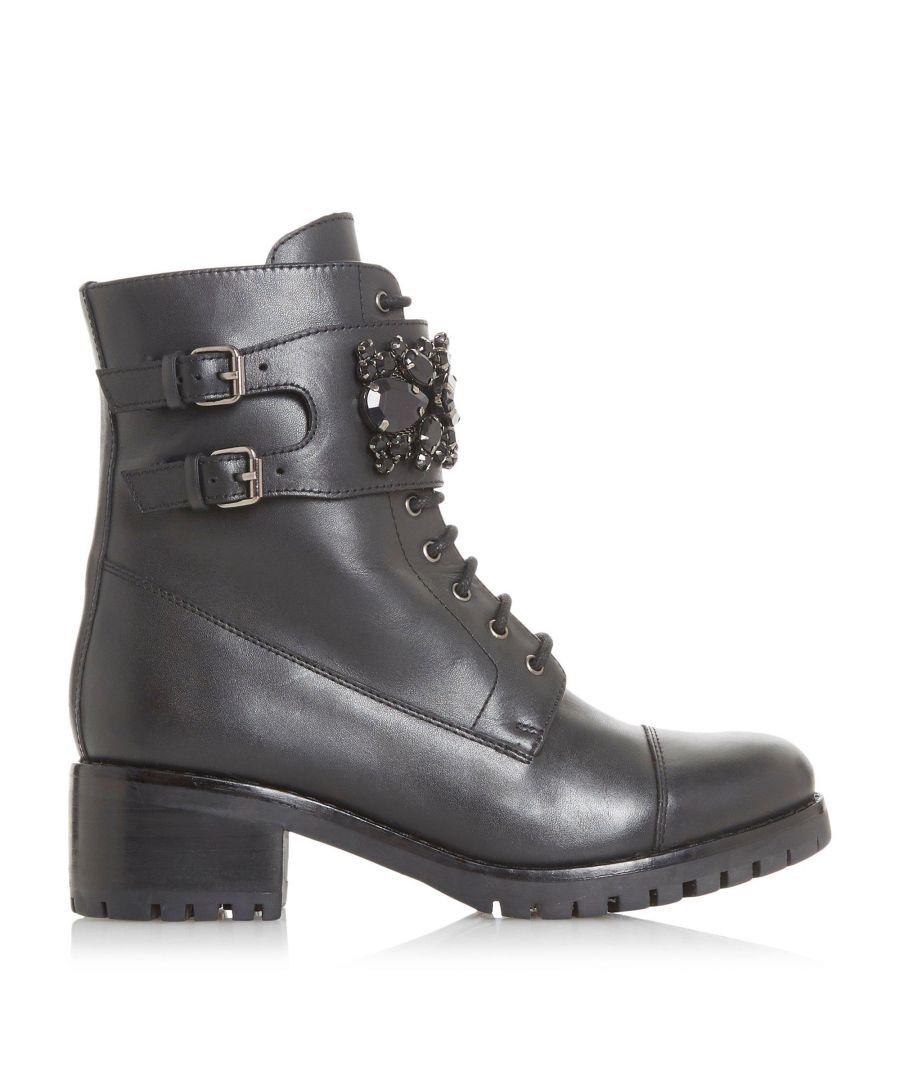 Image for Dune Ladies PASADENA Jewel Strap Biker Boots