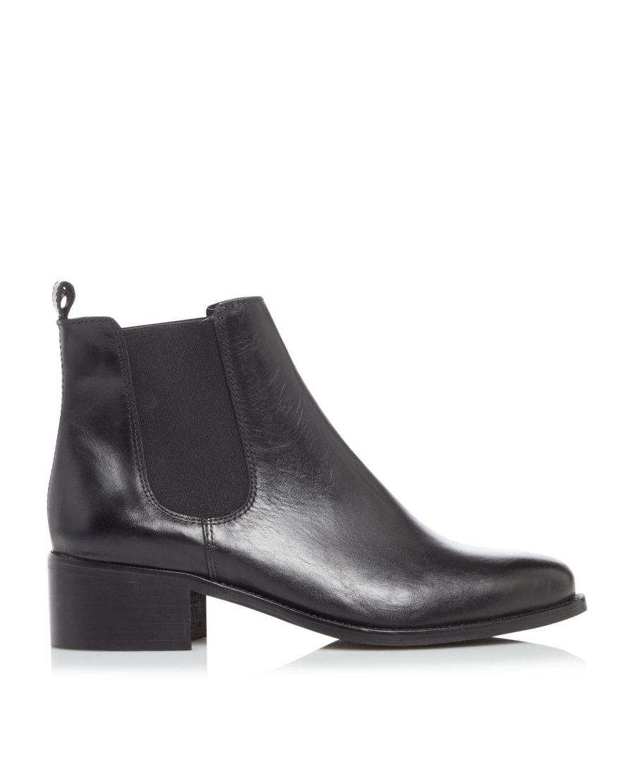 Image for Dune Ladies PATROLE Low Block Heel Chelsea Boots