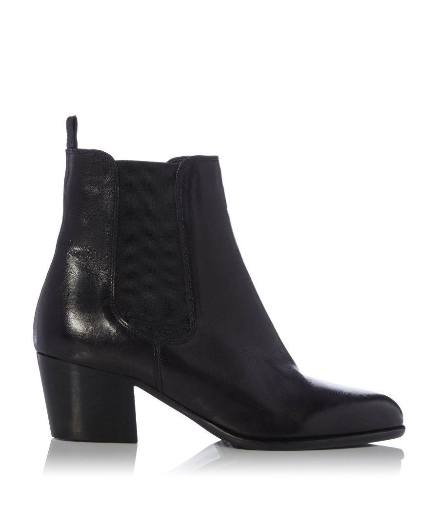 Image for Dune Ladies PATTERSSON Western Block Heel Chelsea Boots