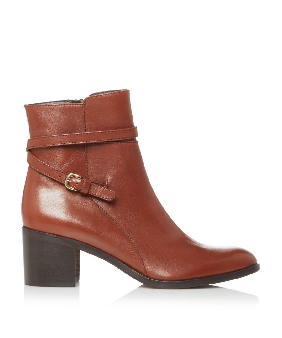 Image for Dune Ladies PATTI Refined Buckle Detail Zip Ankle Boots