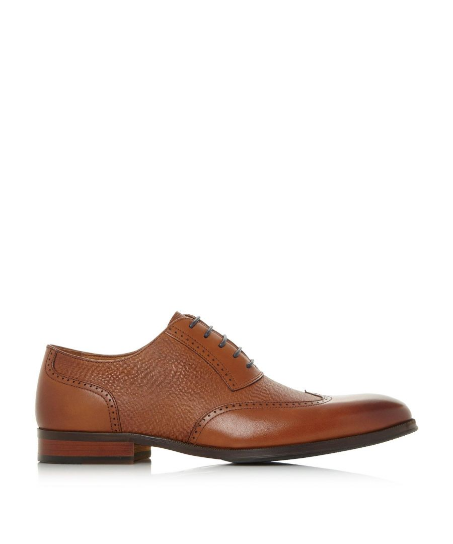 Image for Dune Mens PAYNE Saffiano Embossed Brogue Shoes