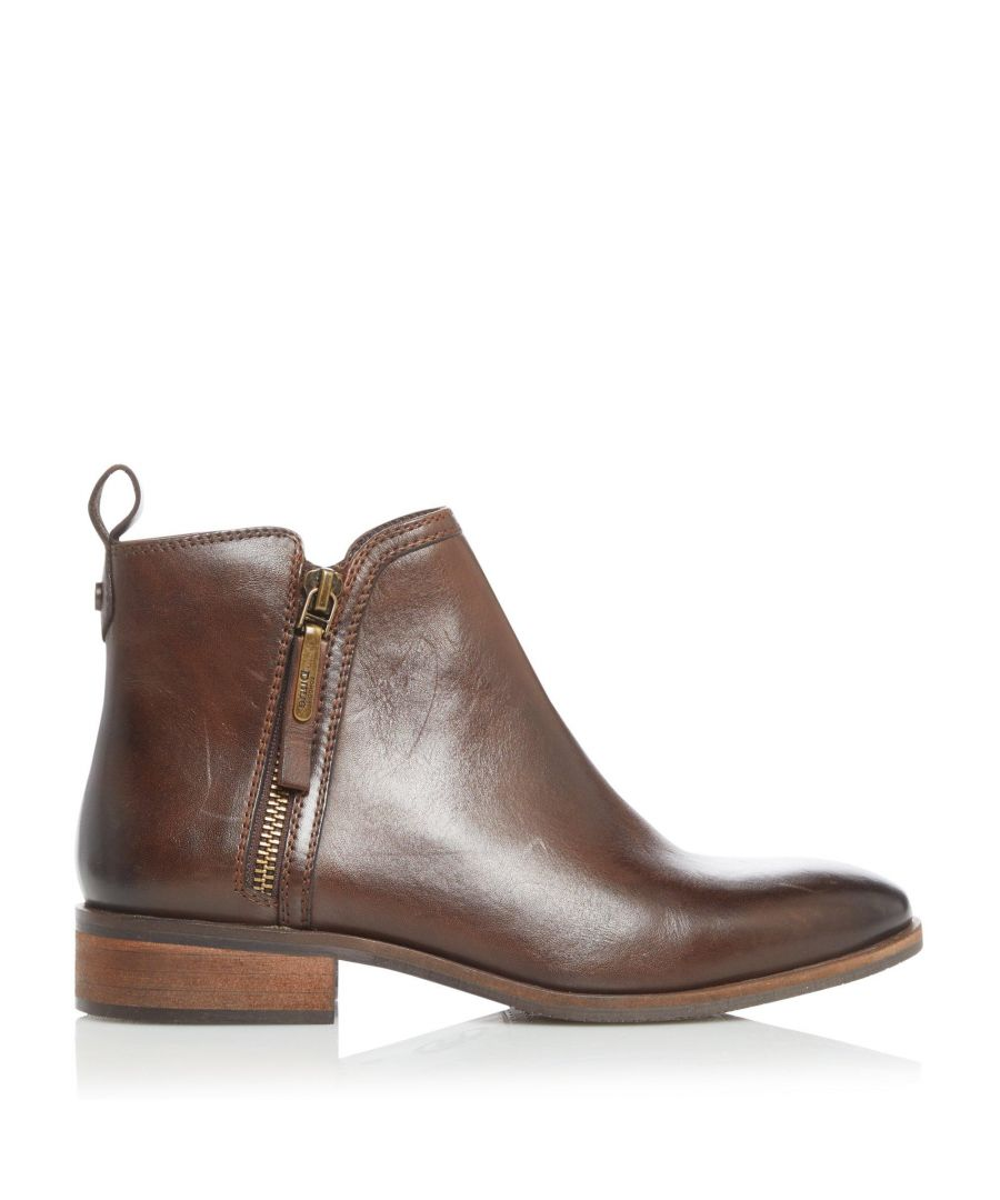 Image for Dune Ladies PEIRSON XX Zip Detail Ankle Boots
