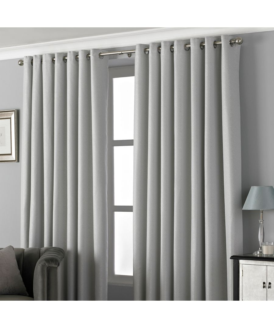 Image for Pendleton Textured Jacquard Eyelet Curtains in Silver