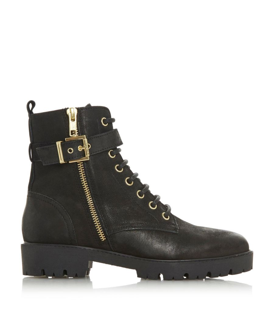 Image for Dune Ladies PHILOSOPHY Buckle Strap Lace Up Boots