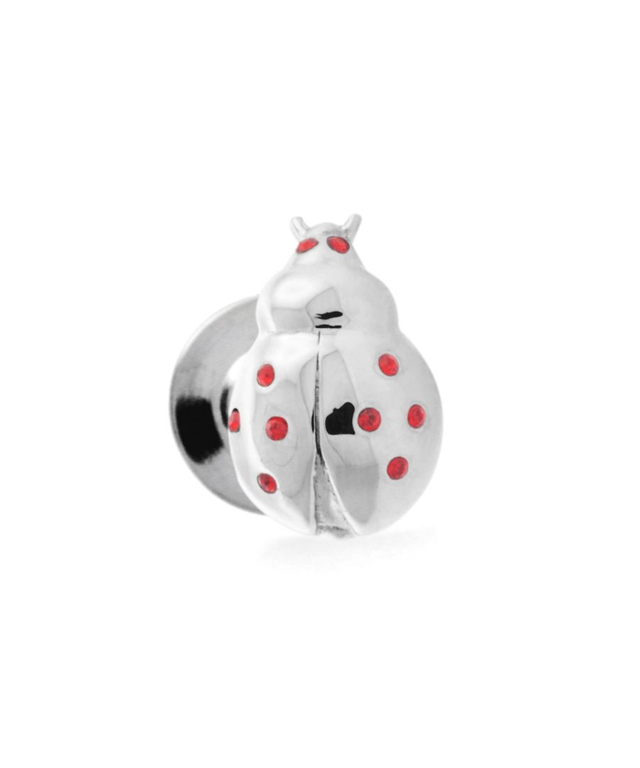 Image for Rhodium  Swarovskiski  Red  Ladybug