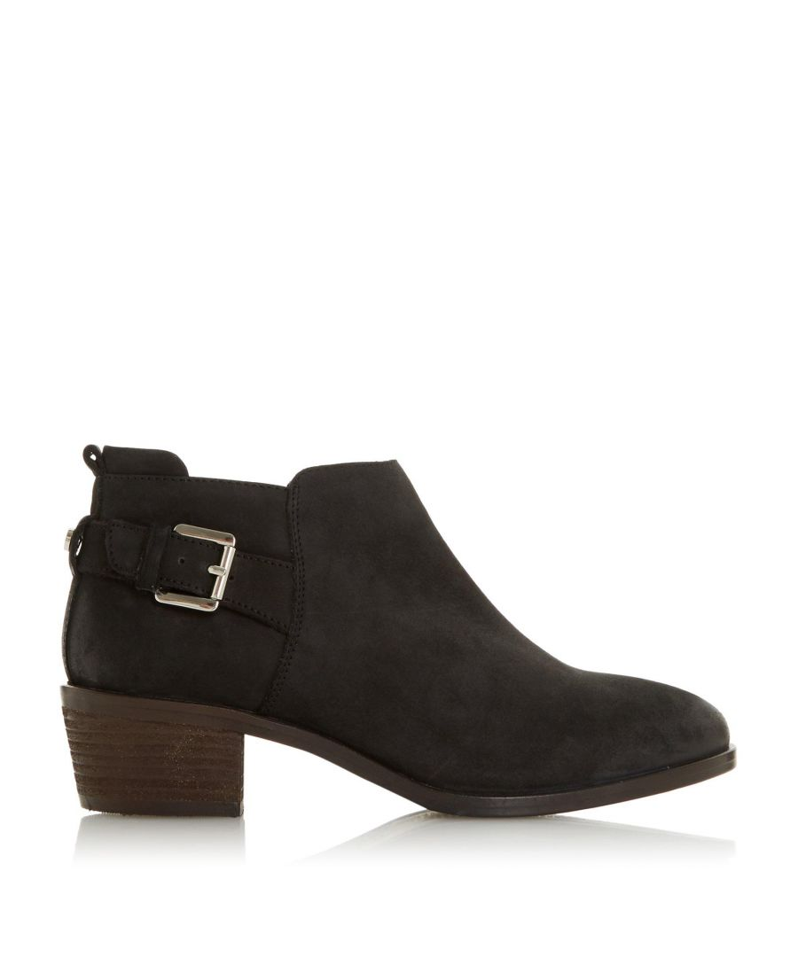 Image for Dune Ladies PIERA Buckle Trim Stacked Heel Ankle Boots