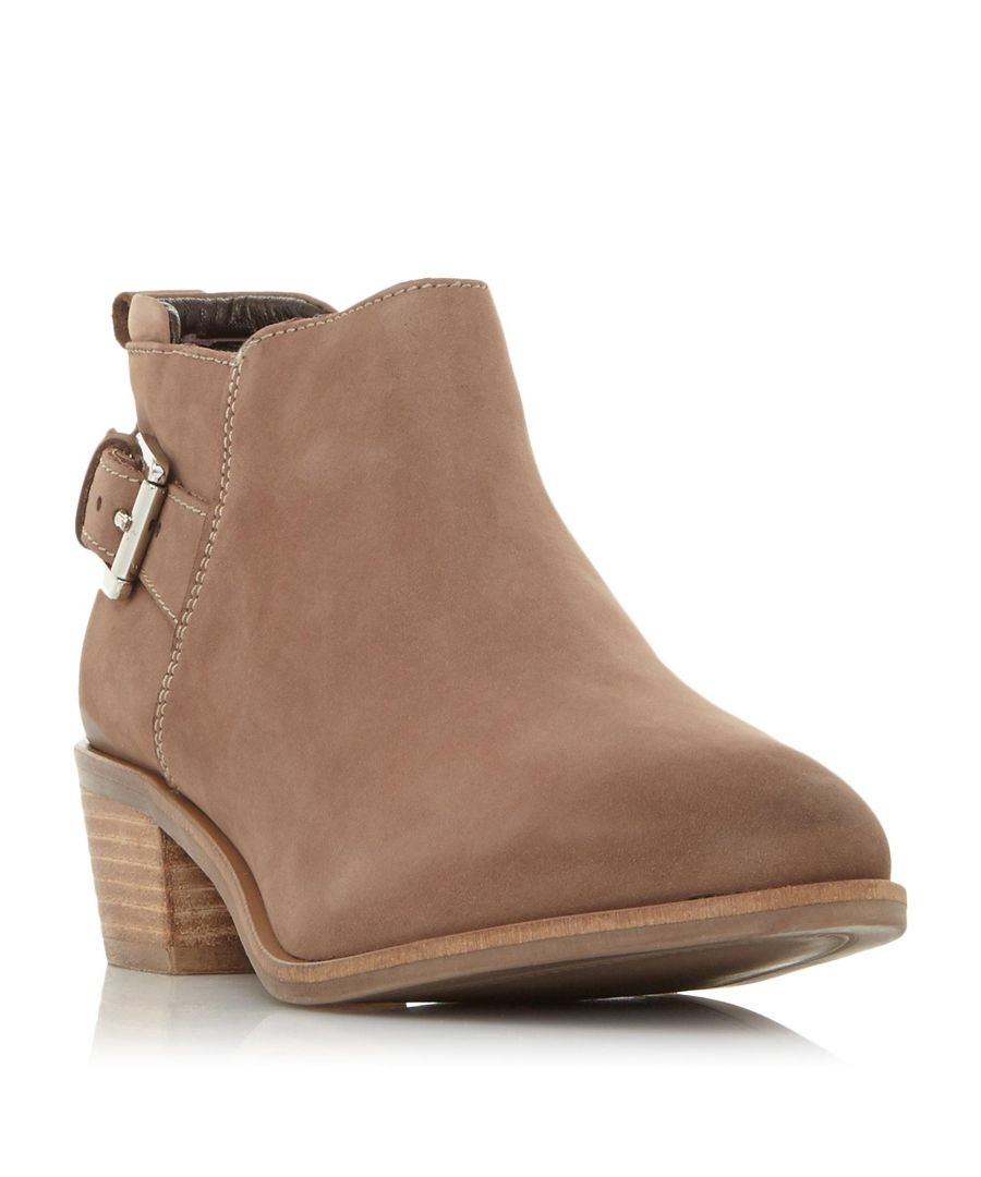 Image for Dune Ladies PIERA Buckle Trim Stacked Heel Ankle Boot
