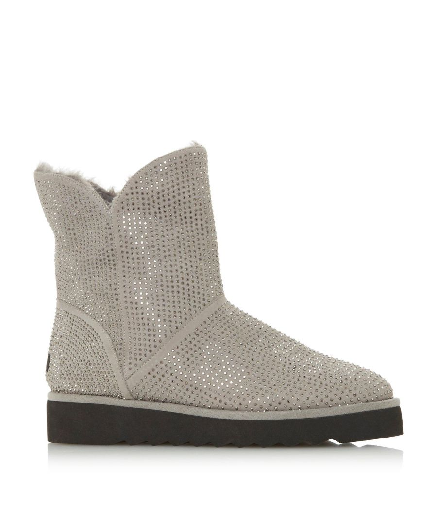 Image for Dune Ladies PINA Diamante Embellished Faux Fur Lined Boots