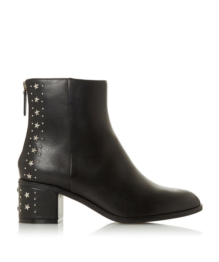 Image for Dune Ladies PINO Embellished Block Heel Ankle Boots