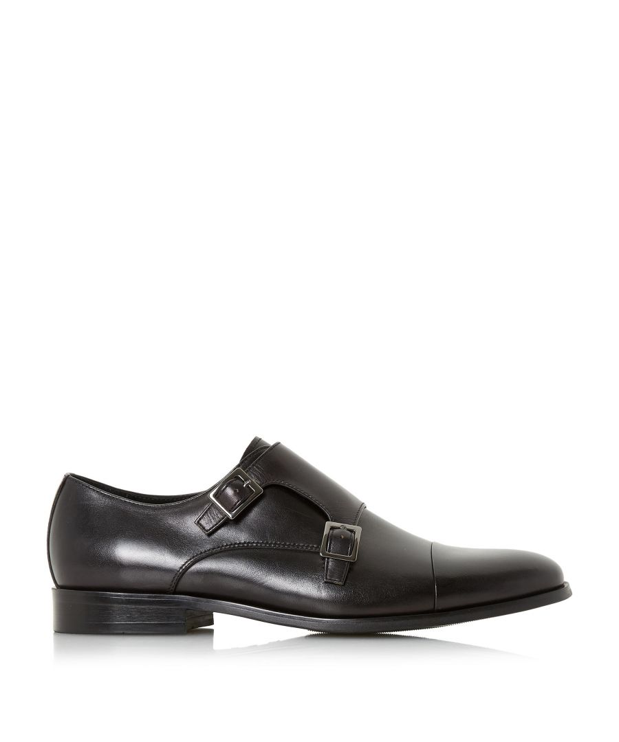 Image for Dune Mens PIRES Double Buckle Monk Shoe