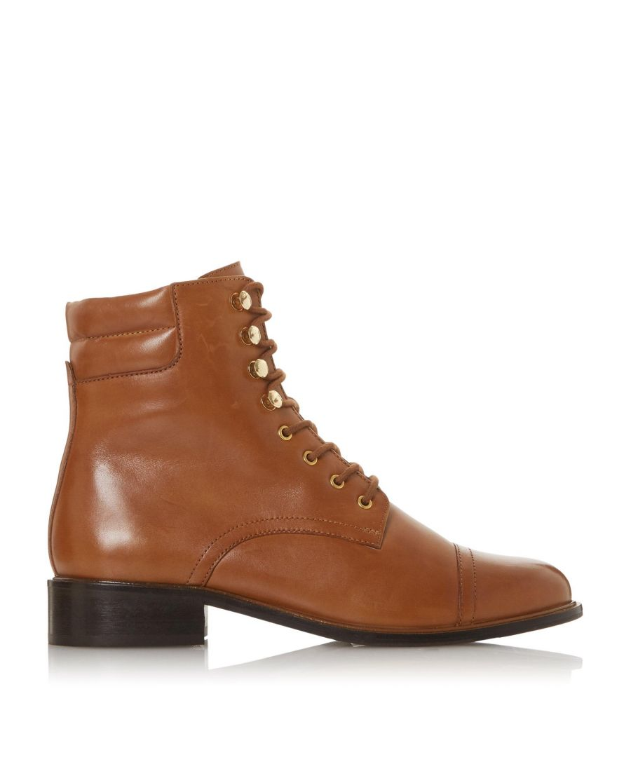 Image for Dune Ladies PITCH  Low Block Heel Round Toe Lace Up Boots