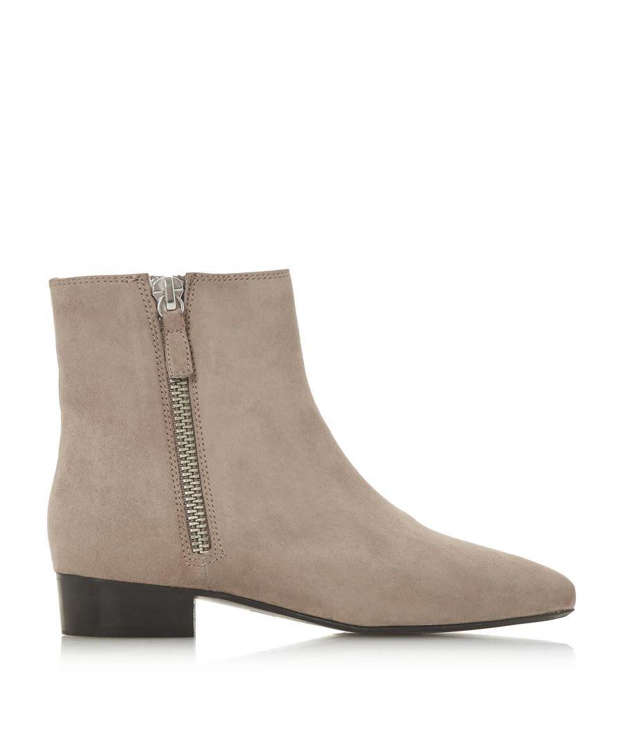 Image for Dune Ladies PIXON  Double Zip Low Block Heel Ankle Boots