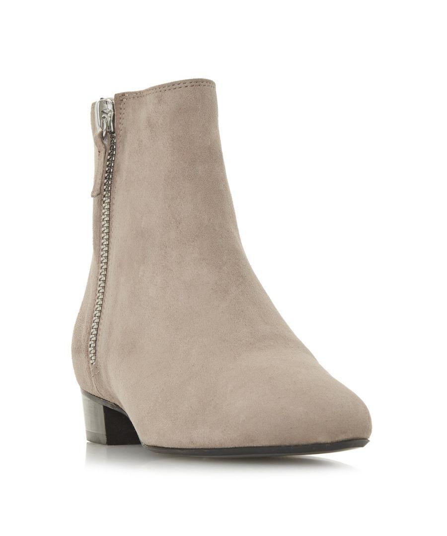 Image for Dune Ladies PIXON  Double Zip Low Block Heel Ankle Boot