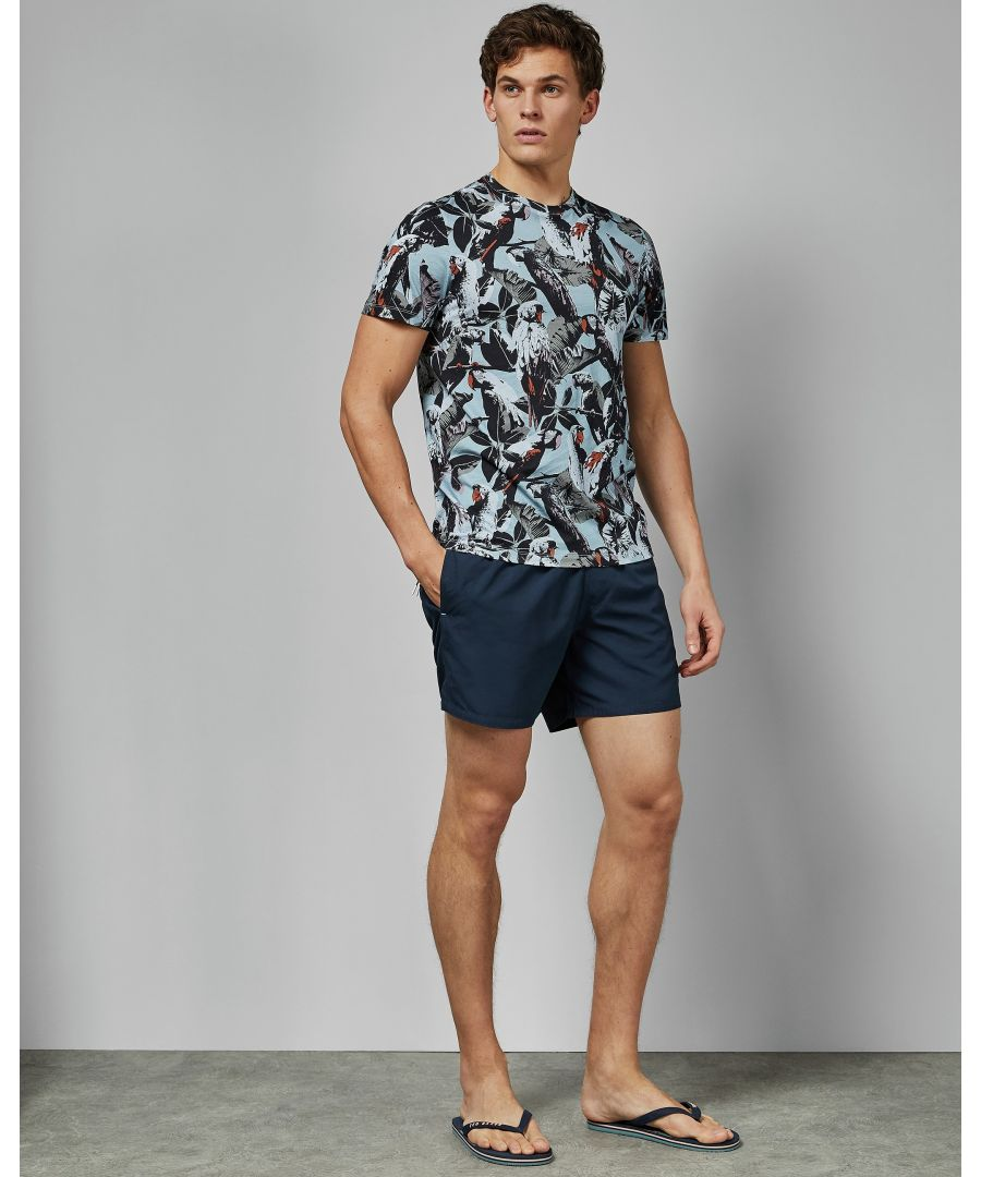 Image for Ted Baker Planktn Plain Swim Short With Pocket, Navy