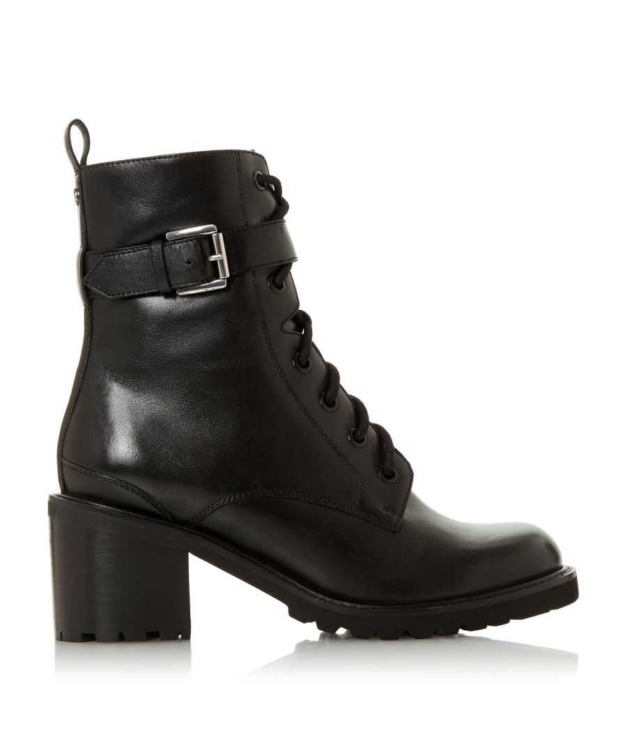 Image for Dune Ladies PLATON Buckle Detail Block Heel Ankle Boots